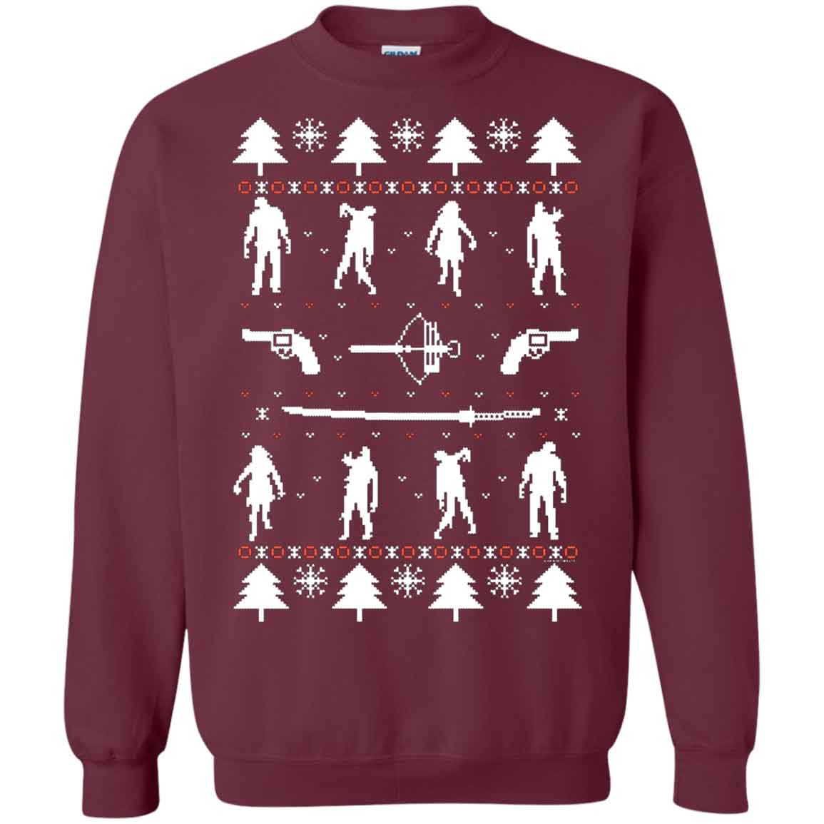 TWD Zombie Ugly Christmas The Walking Dead Christmas Ugly Sweater ...